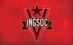 1984 Ingsoc Big Brother Political Flag Poster